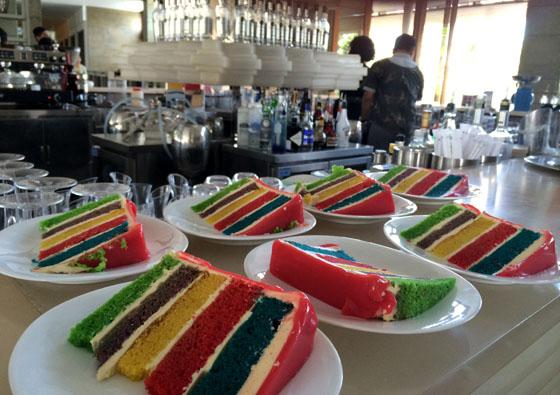 w rainbow cake